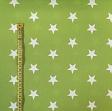 Cotton fabric Stars lime
