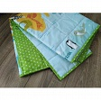 Cotton fabric Petit stars lime
