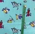 Cotton fabric KUNG FU PANDA Training sky blue