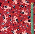 Cotton fabric SPIRIT Meadow red digital print