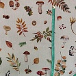 Decoration fabric Linenlook Autumn nature premium