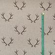 Decoration fabric Linenlook Deer antlers