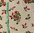 Decoration fabric Linenlook Rosehip fresh garden