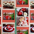 Decoration fabric Red winter dream digital print