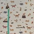 Decoration fabric Linenlook Autumn forest friends premium