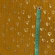Double gauze/muslin FOIL GOLD Love ochre