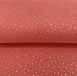Double gauze/muslin Foil stars soft red gold