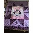 Cotton fabric Dots lilac