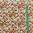 Tablecloth Fabric PVC PIMENTS blanc