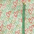 Jersey Glitter hearts mint
