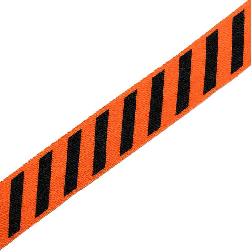 Bias Binding Elastic STRIPE 20 Mm Orange